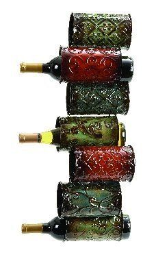 """Metal Wall Wine Rack 8x25 by Asher Home Decorators. $34.97. Dimensions: 25 H x 8 W.. Manufactured to the Highest Quality Available.. Great Gift Idea.. Design is stylish and innovative. Satisfaction Ensured.. Metal Wall Wine Rack 8x25. It is Easy to hang on a wall with the help of 2 screws. Wine rack is made from cast metal and it can hold 7 bottles. Dimension: 25""""H x 8""""W."""