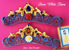 Disney Snow White Snow White tiara Snow White by LoveLoriCrochet
