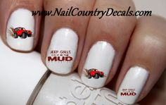 50pc Red Jeep Girls Do It In The Mud Its A Jeep Thing Nail Decals Nail – Nail Country