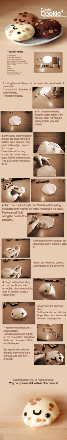cookie plushie tutorial by ~For-Certain No idea why you would need these....but they make me laugh!