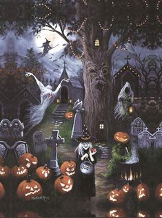 Halloween Jigsaw Puzzles For Adults are the ideal pastime for the Spooky Halloween Holiday! Enjoy these Halloween Jigsaw Puzzles with family and friends! Retro Halloween, Porche Halloween, Fröhliches Halloween, Vintage Halloween Decorations, Halloween Painting, Halloween Prints, Holidays Halloween, Halloween Themes, Spooky Halloween Pictures