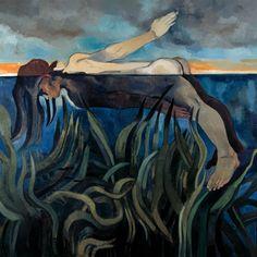 Neş'e Erdok, Dibe Batmak, 154x150 cm, 1996, Tuval üzerine yağlıboya / Oil on canvas