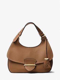 Josie Large French Calf Leather Shoulder Bag by Michael Kors leather handbags 2018 Handbags On Sale, Luxury Handbags, Tote Handbags, Leather Handbags, Leather Purses, Calf Leather, Leather Shoulder Bag, Leather Bag, Sacs Design