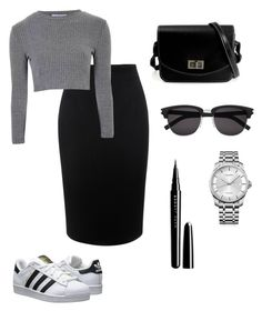 """Informal skirt"" by klara-gizova on Polyvore featuring Alexander McQueen, Glamorous, adidas Originals, Marc Jacobs, Calvin Klein and Yves Saint Laurent"