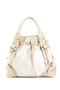 Segolene Ostrich Embossed Strap Detail Bag