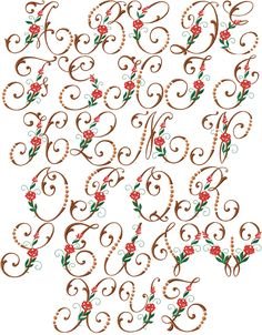 Free Machine Embroidery Alphabet Designs | our machine embroidery designs are digitized for embroidery machines ...
