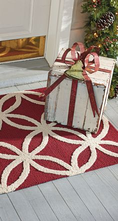 Welcome holiday guests with the subtle charms of our Lola Outdoor Mat.