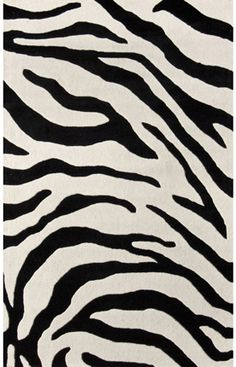 $5 Off when you share! Rugs USA Serendipity Zebra Print Black Rug