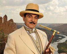 David Suchet as Hercule Poirot.