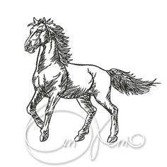 MACHINE EMBROIDERY FILE  Horse2