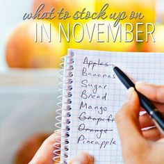 You could be leaving thousands of dollars on the table by not knowing what to stock up on each month. Quick list of what to stock up on in November and what you should be on the lookout for so you don't miss out on those deals!