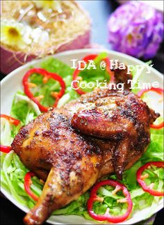 Ayam Panggang Ala Kenny Rogers Duck Recipes, Chicken Recipes, Exotic Food, Indonesian Food, Iftar, I Love Food, Tandoori Chicken, Cooking Time, Poultry