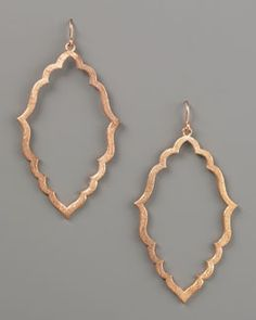 Y0RTM Dogeared Moroccan Hoop Earrings, Rose Gold