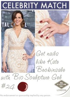 Get nails like Kate Beckinsale with Bio Sculpture Gel!