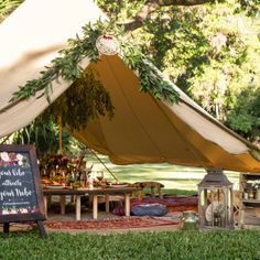 The ideal bell tent for your glamping event, as glamping accomodation or to live in.