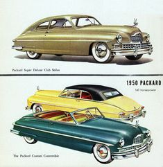 Packard Super DeLuxe Club N Convertible 1950 - Mad Men Art: The 1891-1970 Vintage Advertisement Art Collection