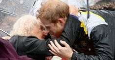 Prince Harry Kissed A 97-Year-Old Widow And We're Melting
