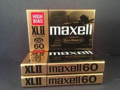 MAXELL - 3 high bias XL2 60 minute black magnetite SEALED CASSETTE