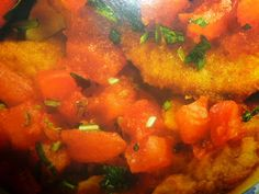 un mondo di ricette: fettine di vitello - impanate con pomodori