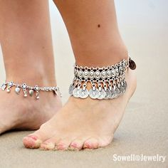 Sira Silver Coin Anklet