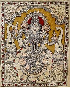Mysore Painting, Kalamkari Painting, Indian Traditional Paintings, Indian Paintings, Madhubani Art, Madhubani Painting, Art Forms Of India, Kalamkari Designs, Indian Folk Art