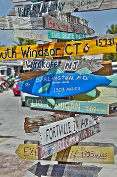 Tourist attraction Signs in Key West