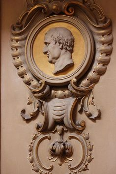 Medallion of a Roman philosopher by Giovanni Bagutti: