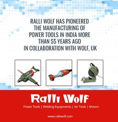 RalliWolf has pioneered the manufacturing of Power Tools in India more than 55 years ago in collaboration with Wolf, UK. #powertools #india http://ralliwolf.com