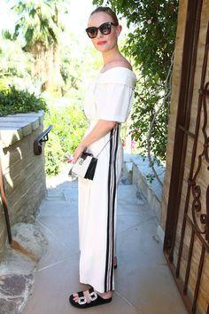 「ケイト・ボスワース(Kate Bosworth)、オフショルトップス×ワイドパンツのモノトーンコーデでコーチェラへ★」の画像 : 海外セレブ最新画像・私服ファッション・ブランド情報【DailyCelebrityDiary*】