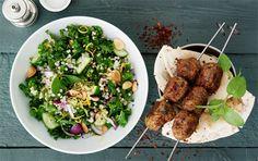 På menuen: Krydrede meatballs & vitaminrig salat