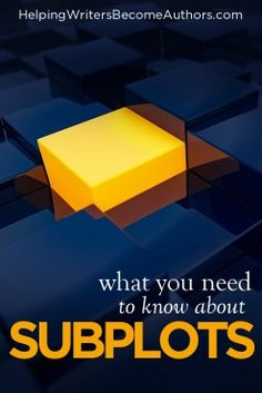 Does Your Story Need Subplots? - Helping Writers Become Authors Writing Resources, Writing Prompts, Sideline Story, Authors, Writers, Old Flame, Character Trait, In A Nutshell, Enough Is Enough
