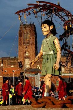 SeaOdyssey Giant girl. Liverpool April 2012. @snapperlane
