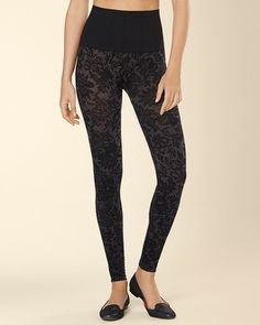 My Soma Wish List Sweeps Soma Intimates Slimming Legging Lace Tapestry Black #somaintimates