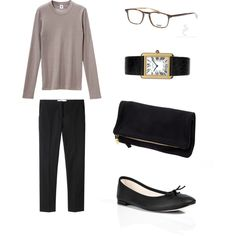 Untitled #153 by stractstyle on Polyvore featuring Golden Goose, Repetto, Cartier, Petit Bateau, Oliver Peoples and Clare V.