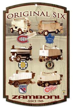 original six zamboni Boston Bruins Hockey, Blackhawks Hockey, Hockey Goalie, Hockey Games, Hockey Mom, Hockey Stuff, Chicago Blackhawks, Hockey Party, Hockey Players