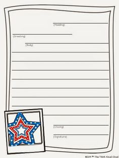 August  BackToSchool  Friendly Letter Writing Templates  Back