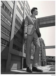 Jeremy Matos + Richard Detwiler are Larger Than Life for Details Fall 2014 Suiting Fashion Editorial image Details Fall 2014 Suiting 008