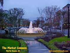 The Market Common on the former Myrtle Beach AFB. Hop aboard snowbirdrvtrails.com Myrtle, Day Trips, South Carolina, Mansions, House Styles, Beach, Beautiful, Villas, Seaside