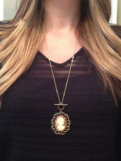 Sweetest Vintage Cameo Necklace by elladolce on Etsy, $32.00