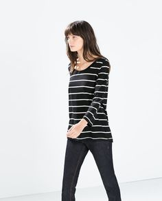 Like I said, I could really use some nice long sleeve tees - S COTTON T-SHIRT from Zara