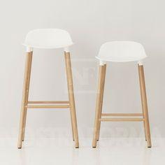 imaison Songmics Lot de 2 tabourets de bar Noir chaise fauteuil Hauteur
