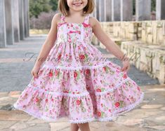 Girls dress Custom ruffled twirl sundress by francoiselamasolet