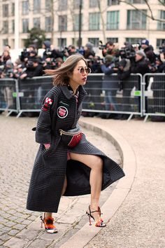 On the Scene…At Miu Miu, Paris (The Sartorialist) Glasses For Your Face Shape, Sartorialist, Parisian Chic, International Fashion, Face Shapes, Miu Miu, Nice Dresses, Fashion Show, Street Style