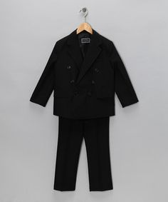 ONLY $25!!! Any little lad will look utterly debonair in this svelte suit set. The double-breasted style has perfect pockets for holding little hankies, and the elastic waistband makes it easy-peasy to get dressed up for big events.