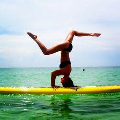 Takin paddle boarding to the next level!! #yoga #yogaanywhere