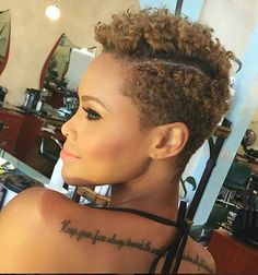 Today we have the most stylish 86 Cute Short Pixie Haircuts. We claim that you have never seen such elegant and eye-catching short hairstyles before. Pixie haircut, of course, offers a lot of options for the hair of the ladies'… Continue Reading → Afro Hair Style, Curly Hair Styles, Short Natural Styles, Short Styles, Twa Styles, Twa Hairstyles, Haircuts, Tapered Natural Hair, Sassy Hair