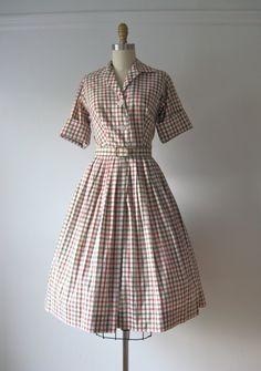 vintage 1950s day dress / Saturday Stripes