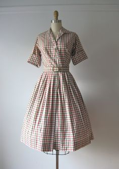vintage 1950s day dress / Saturday Stripes