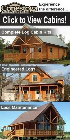 Cumberland Log Cabin Kit from 16350 Future Home Ideas