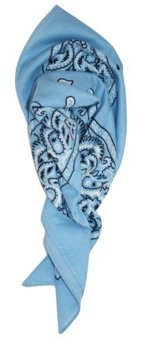 Ted and Jack - Western Style Cotton Cowboy Bandana (Carolina Blue) -- Check out…